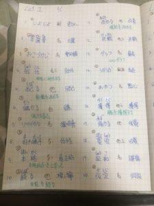 日文單字內容