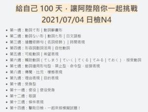 100天的基礎日文計畫!阿陞陪你戰勝N4